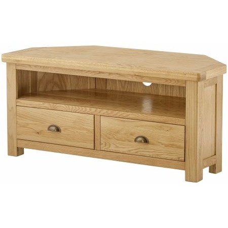 Classic Furniture - Portland Grand Corner TV Unit Oak
