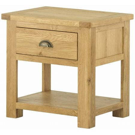 Classic Furniture - Portland Lamp Table with Drawer Oak