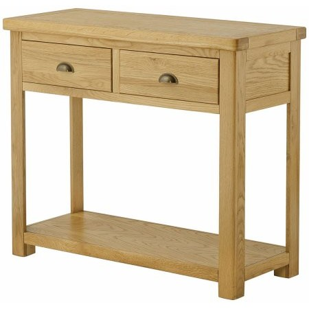 Classic Furniture - Portland 2 Drawer Console Table Oak