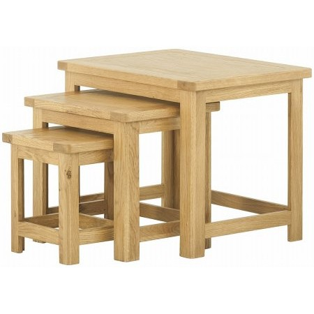 Classic Furniture - Portland Nest of Tables Oak