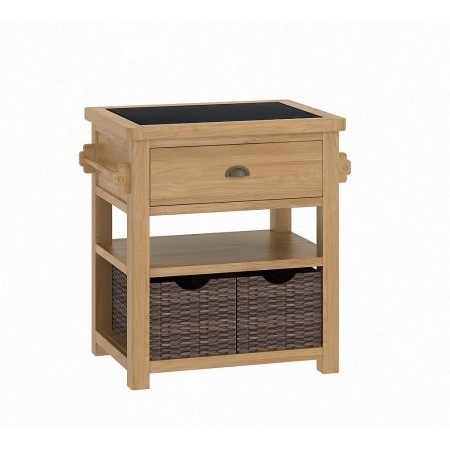 Classic Furniture - Portland Kitchen Small Island Unit Oak